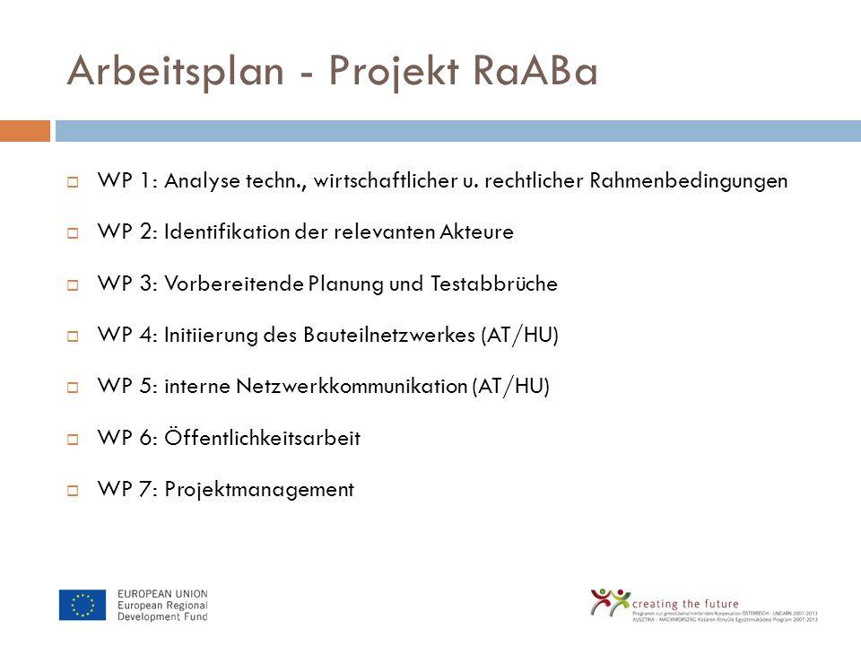 Arbeitsplan - Projekt RaABa