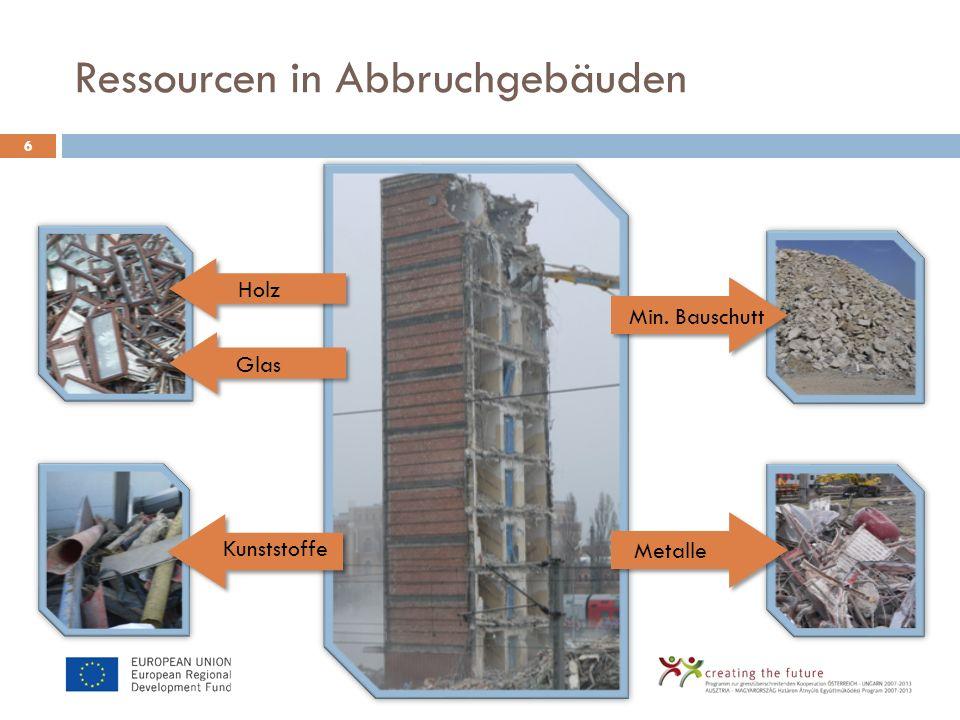 Ressourcen in Abbruchgebäuden