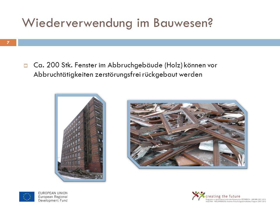 Wiederverwendung im Bauwesen
