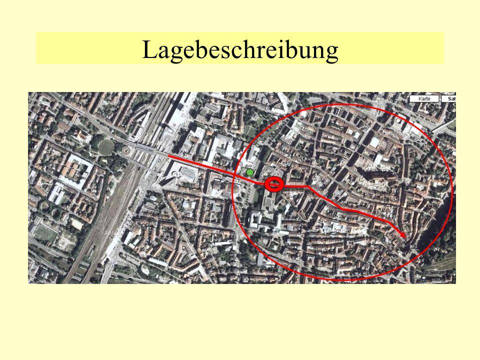 Lagebeschreibung im Stadtkern