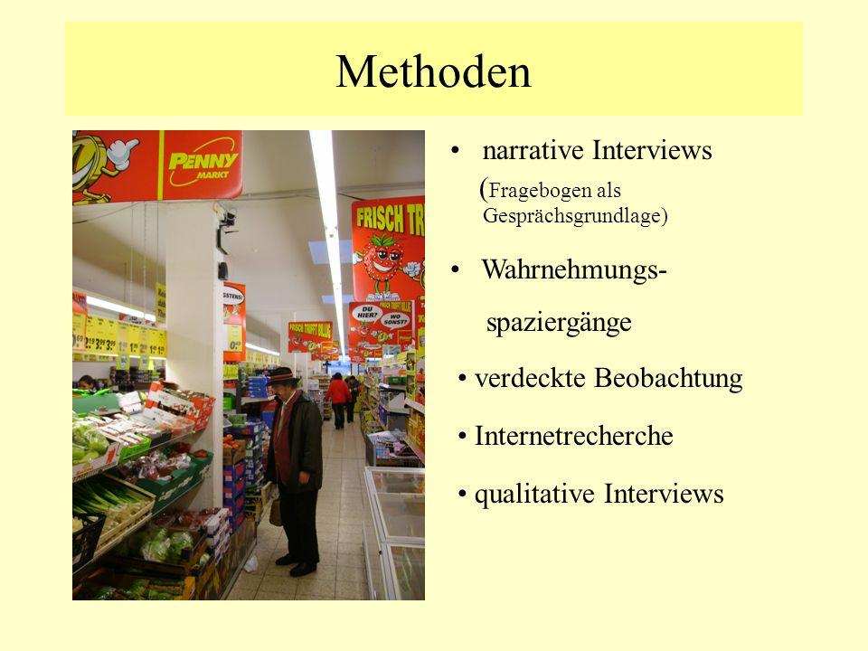 Methoden narrative Interviews (Fragebogen als Gesprächsgrundlage)