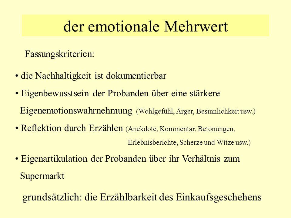 der emotionale Mehrwert