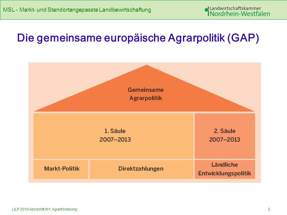 Die gemeinsame europäische Agrarpolitik (GAP)