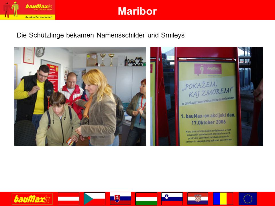 Maribor Die Schützlinge bekamen Namensschilder und Smileys