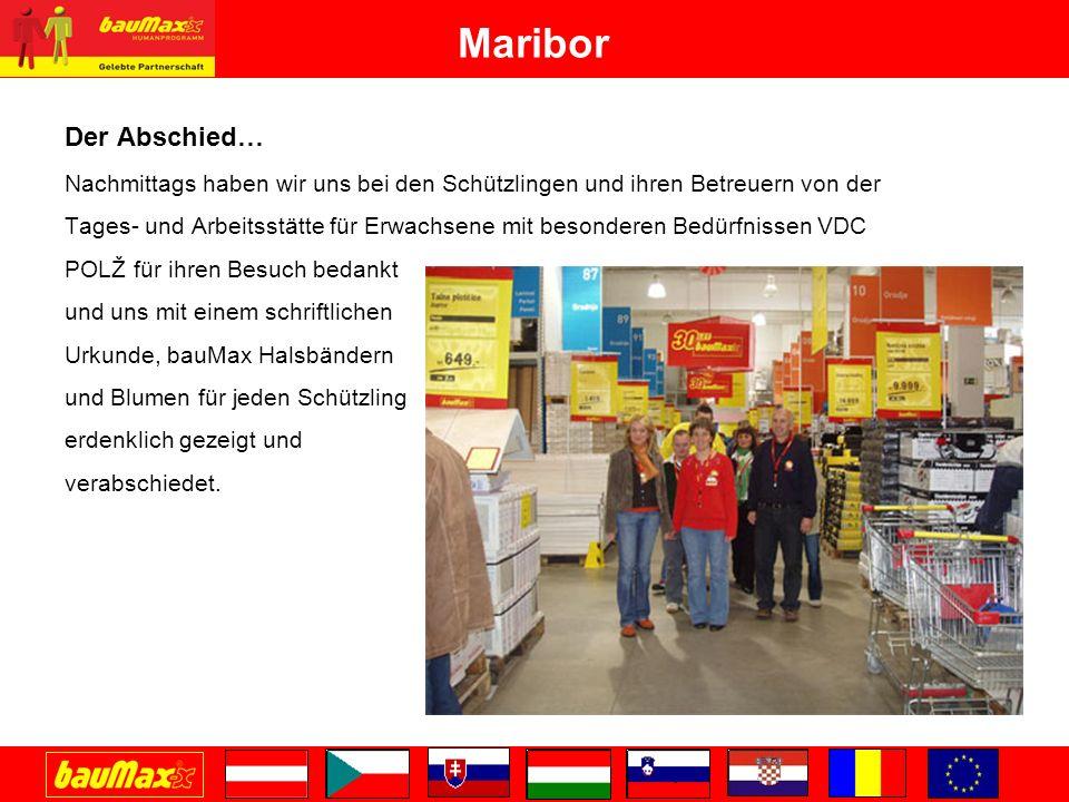 Maribor Der Abschied… Nachmittags haben wir uns bei den Schützlingen und ihren Betreuern von der.