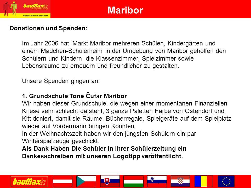 Maribor Donationen und Spenden: