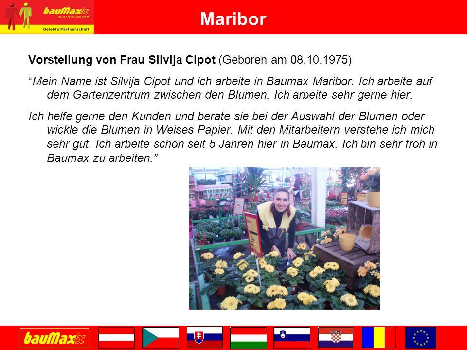 Maribor Vorstellung von Frau Silvija Cipot (Geboren am 08.10.1975)