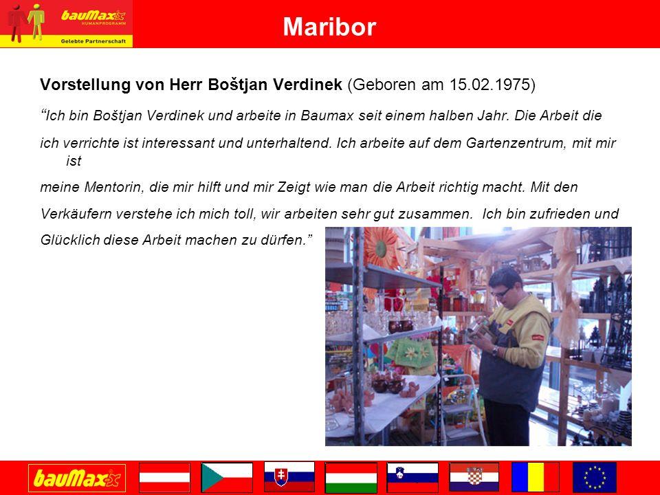 Maribor Vorstellung von Herr Boštjan Verdinek (Geboren am 15.02.1975)