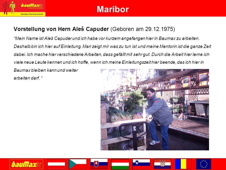 Maribor Vorstellung von Hern Aleš Capuder (Geboren am 29.12.1975)