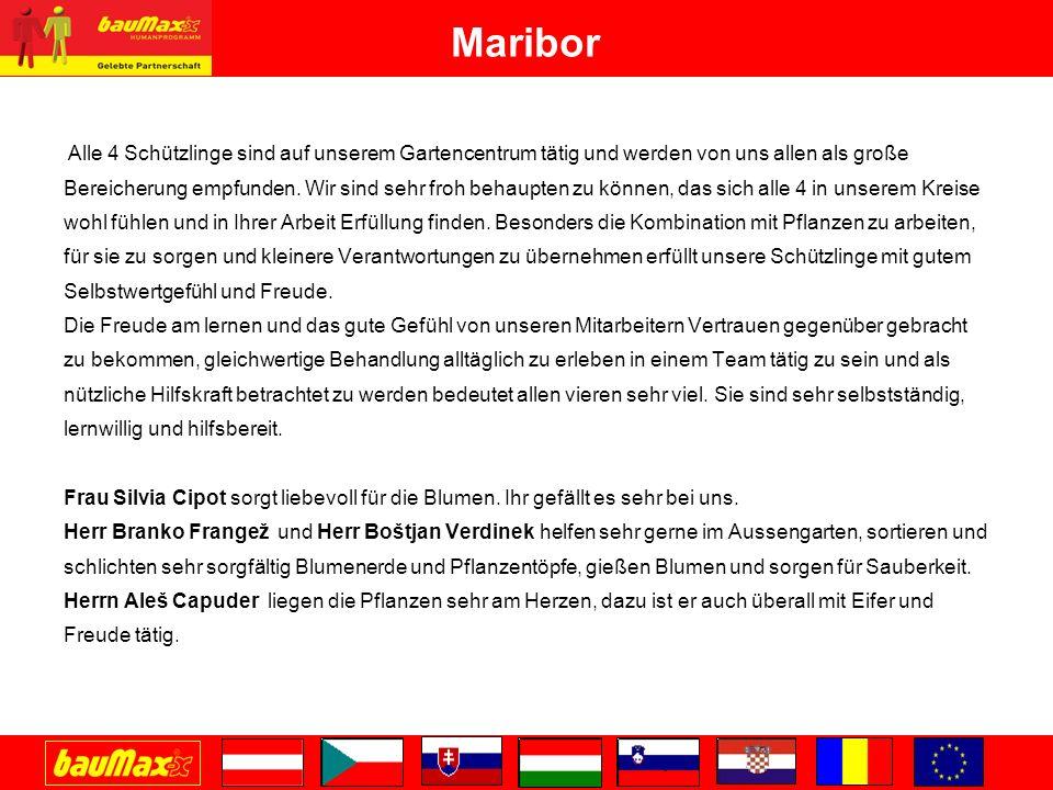 Maribor Alle 4 Schützlinge sind auf unserem Gartencentrum tätig und werden von uns allen als große.