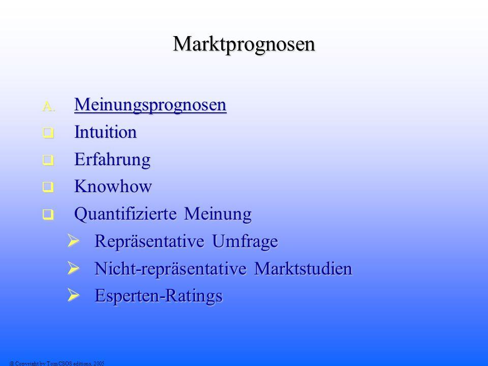 Marktprognosen Meinungsprognosen Intuition Erfahrung Knowhow