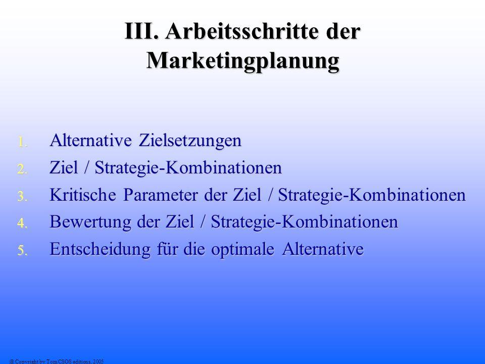 III. Arbeitsschritte der Marketingplanung