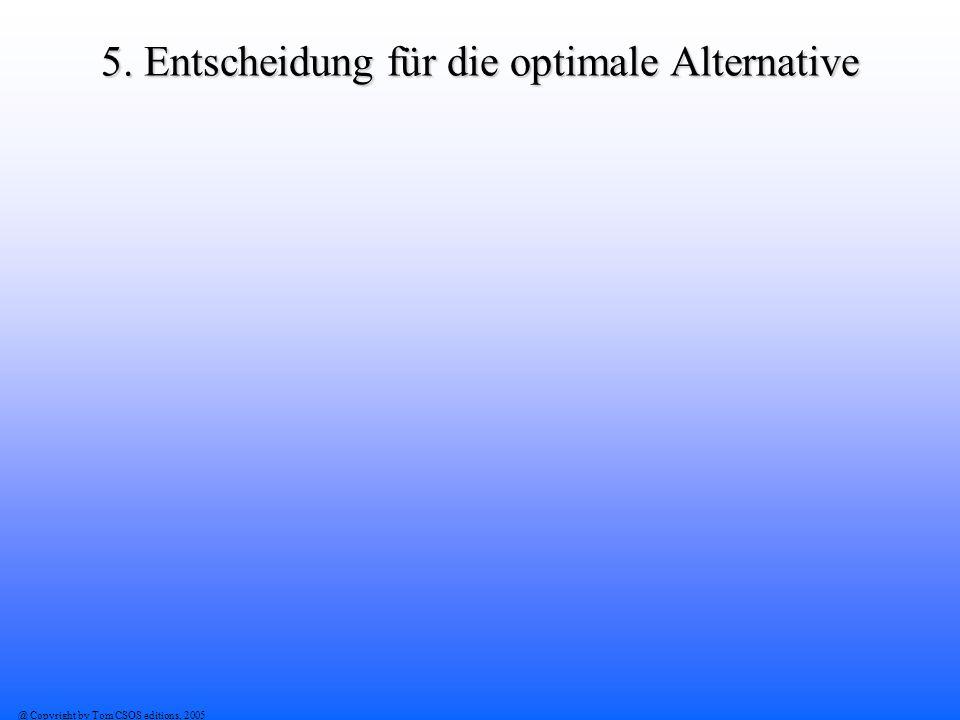 5. Entscheidung für die optimale Alternative