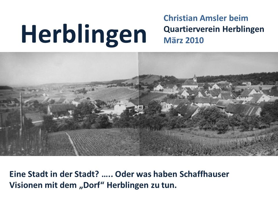 Herblingen Christian Amsler beim Quartierverein Herblingen März 2010