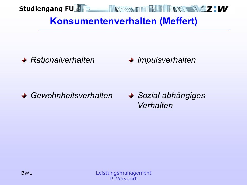 Konsumentenverhalten (Meffert)