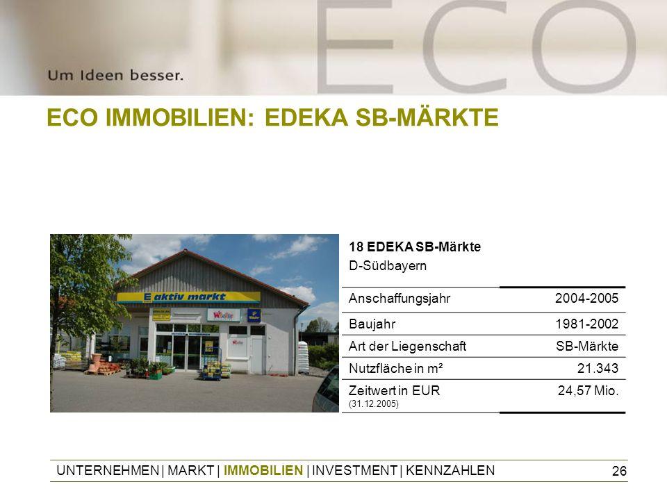 ECO IMMOBILIEN: EDEKA SB-MÄRKTE