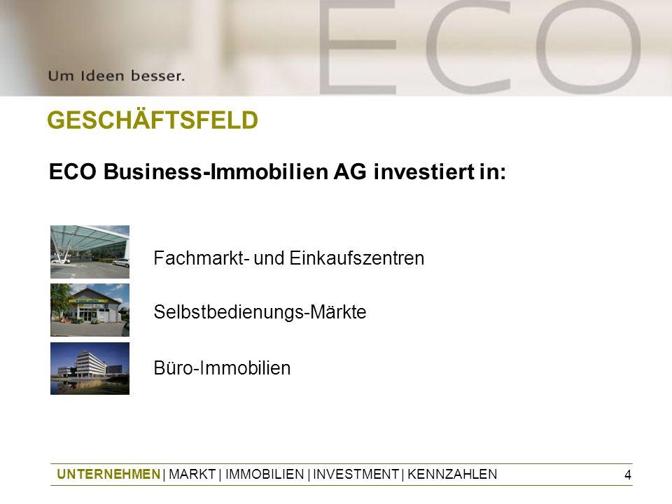 GESCHÄFTSFELD ECO Business-Immobilien AG investiert in: