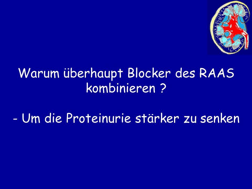 Warum überhaupt Blocker des RAAS kombinieren