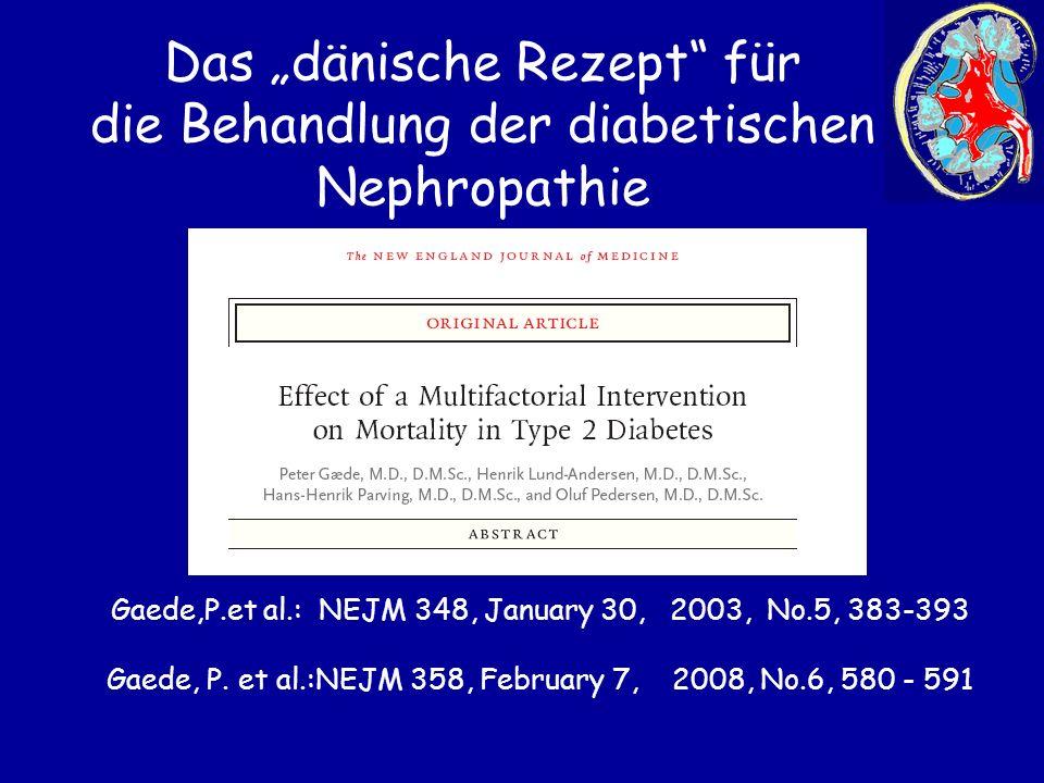 """Das """"dänische Rezept für die Behandlung der diabetischen Nephropathie"""