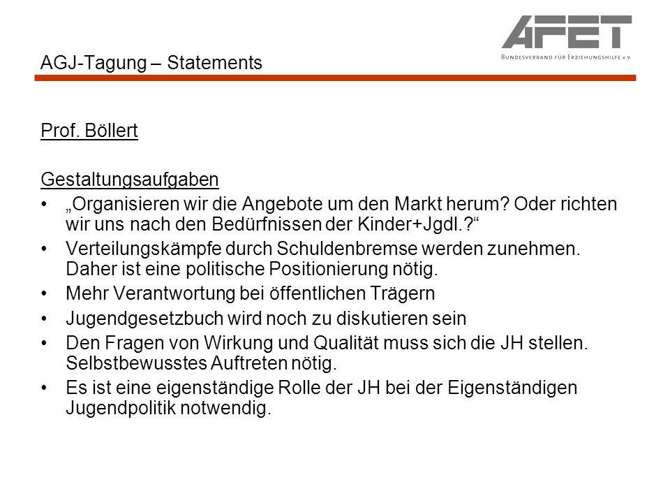 AGJ-Tagung – Statements