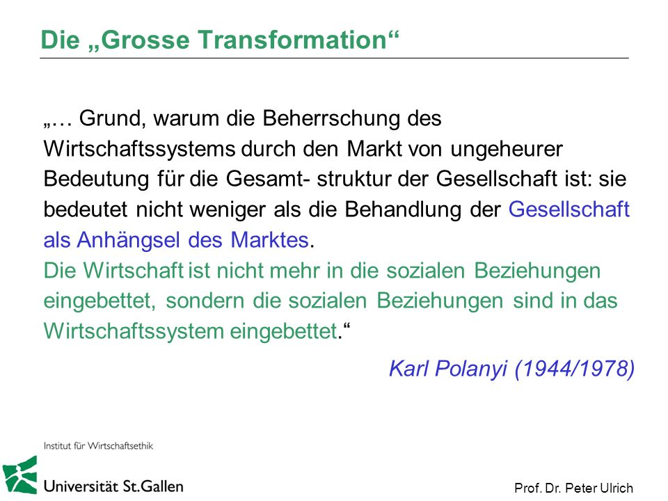 "Die ""Grosse Transformation"