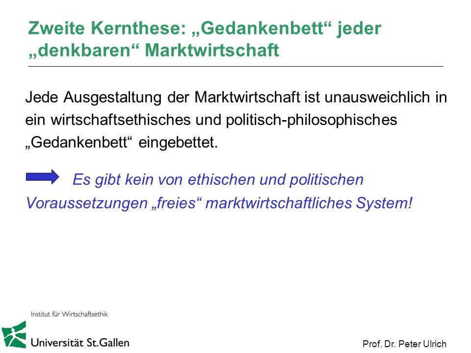 """Zweite Kernthese: """"Gedankenbett jeder """"denkbaren Marktwirtschaft"""