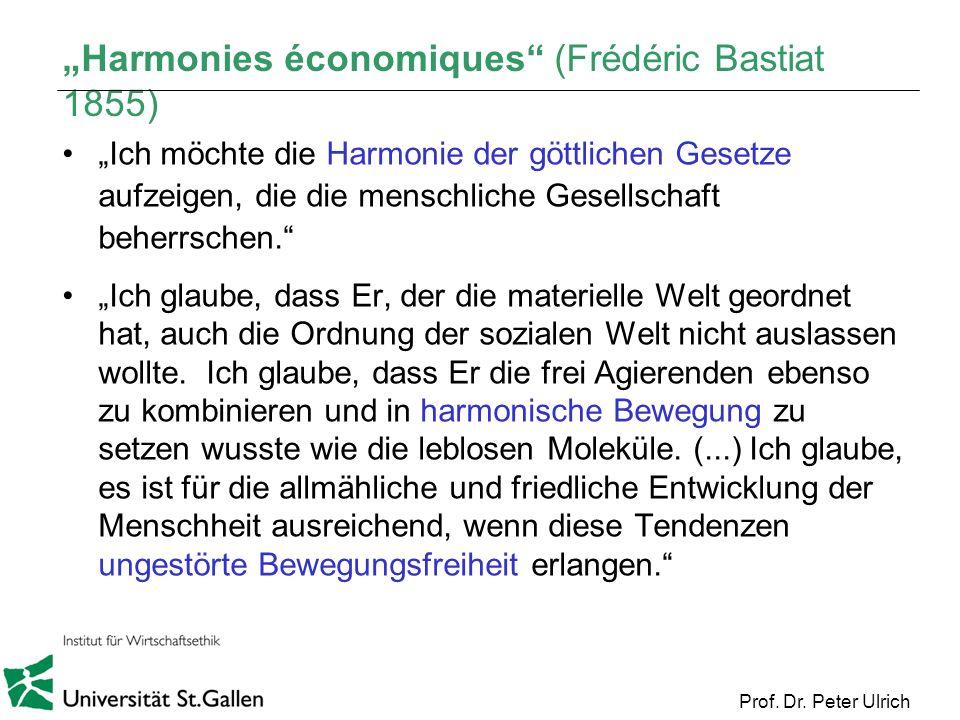 """""""Harmonies économiques (Frédéric Bastiat 1855)"""
