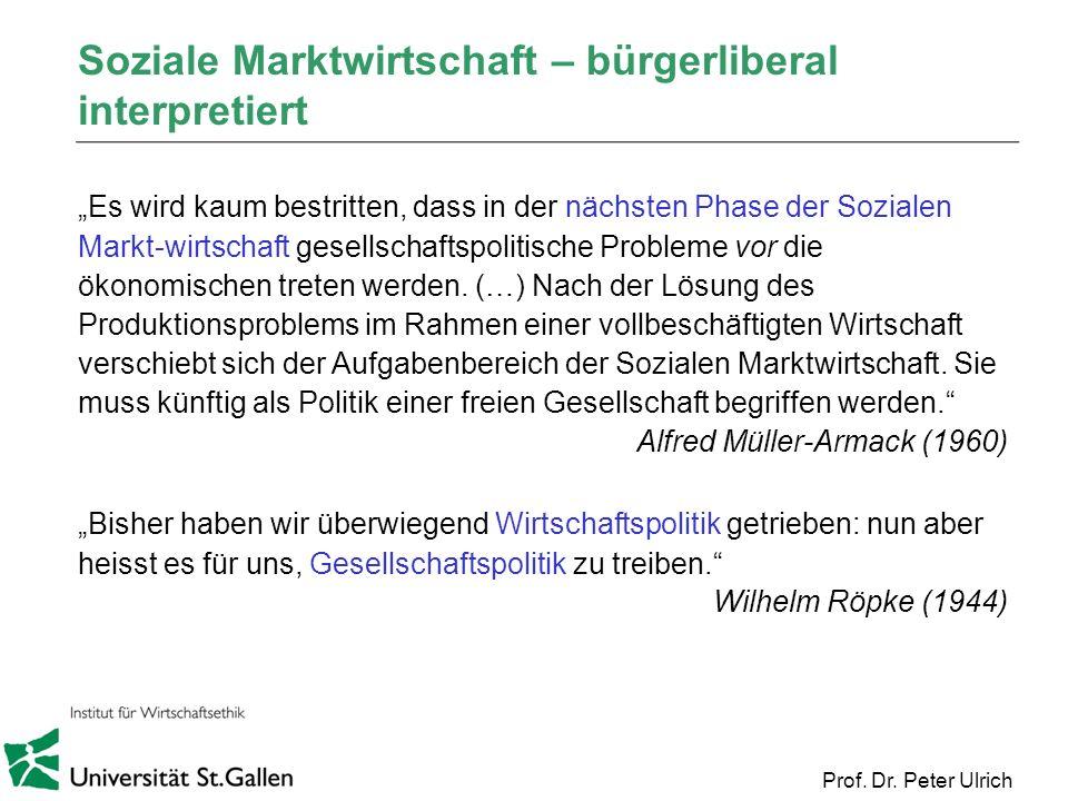 Soziale Marktwirtschaft – bürgerliberal interpretiert