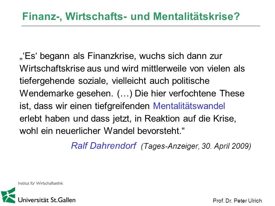Finanz-, Wirtschafts- und Mentalitätskrise