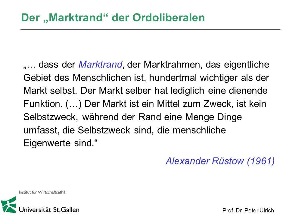 """Der """"Marktrand der Ordoliberalen"""
