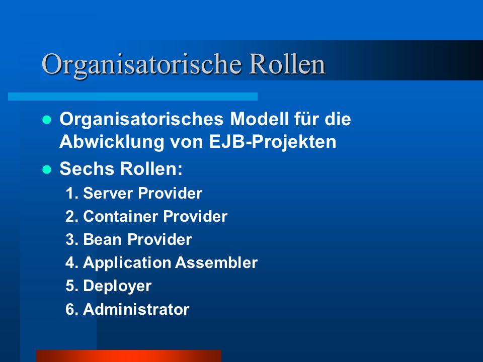 Organisatorische Rollen
