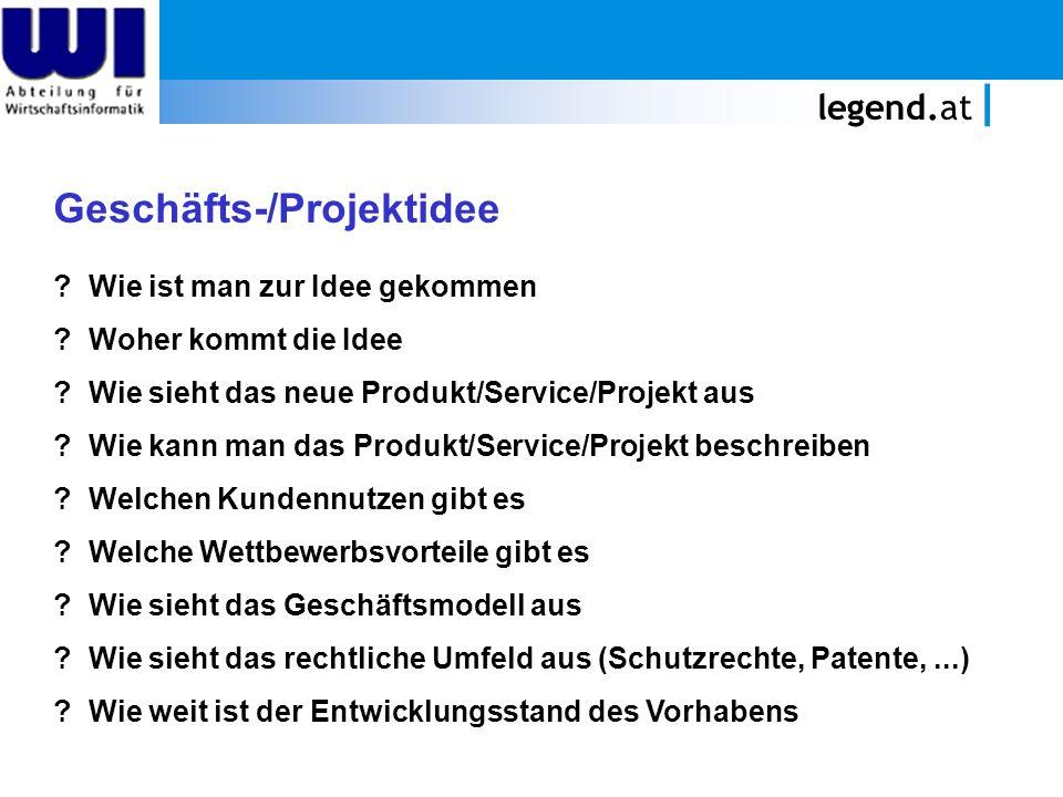 Geschäfts-/Projektidee