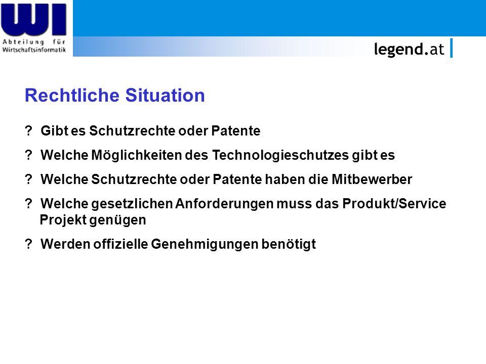 Rechtliche Situation legend.at Gibt es Schutzrechte oder Patente