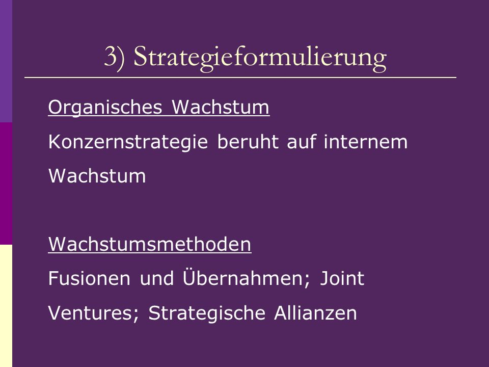 3) Strategieformulierung