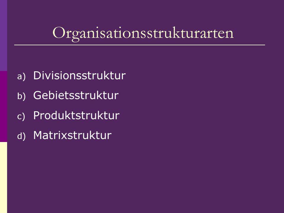 Organisationsstrukturarten