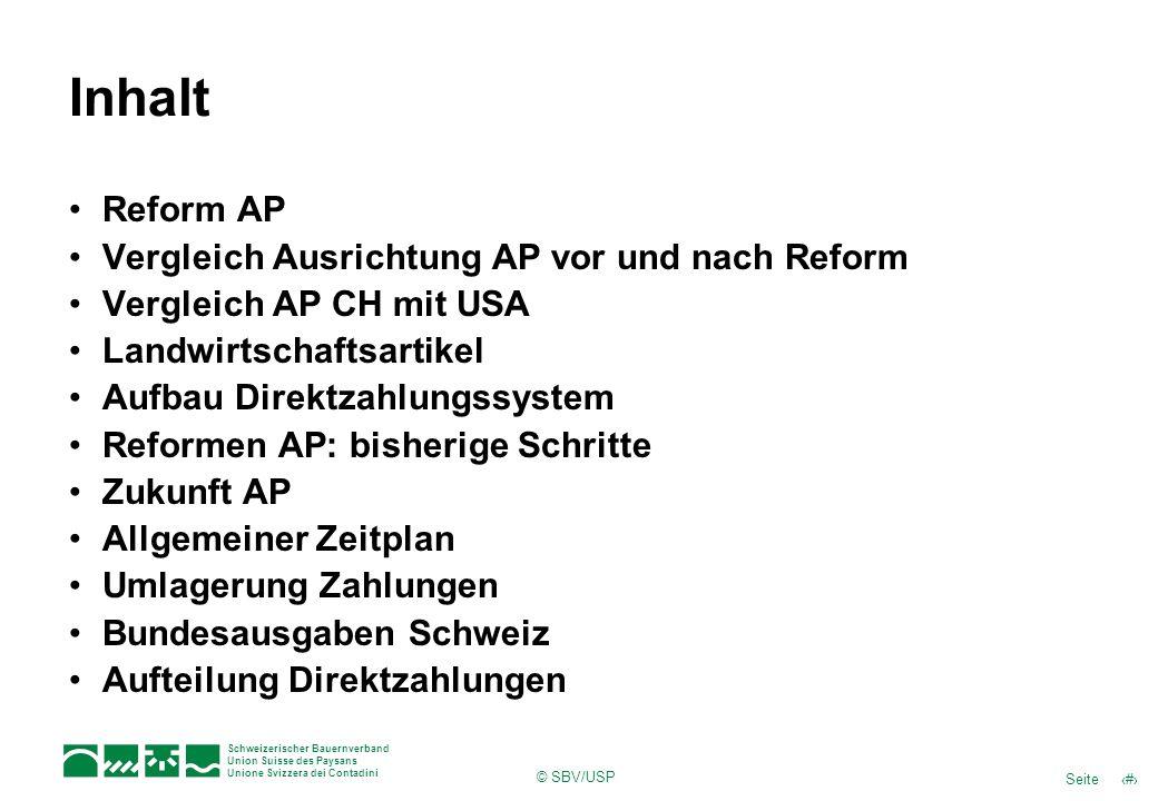 Inhalt Reform AP Vergleich Ausrichtung AP vor und nach Reform