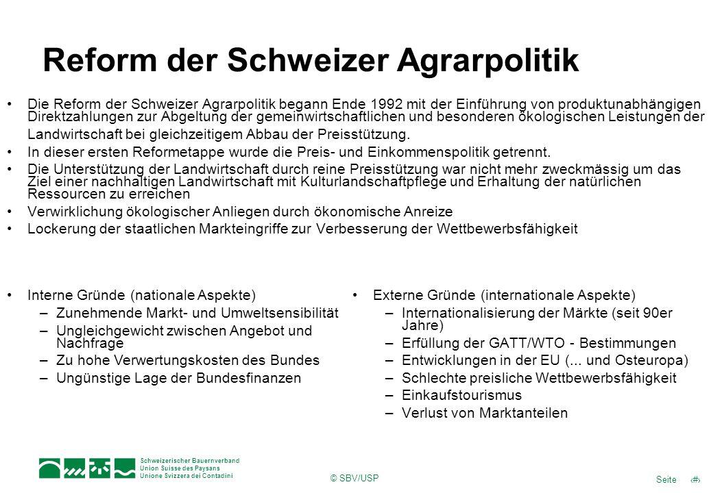 Reform der Schweizer Agrarpolitik