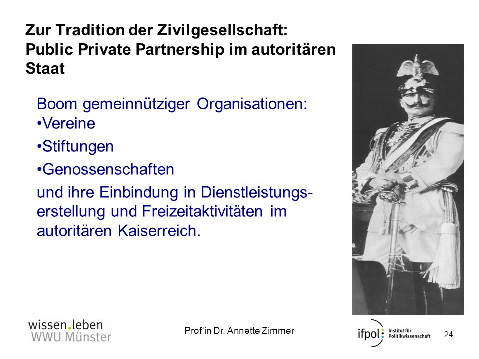 Zur Tradition der Zivilgesellschaft: Public Private Partnership im autoritären Staat