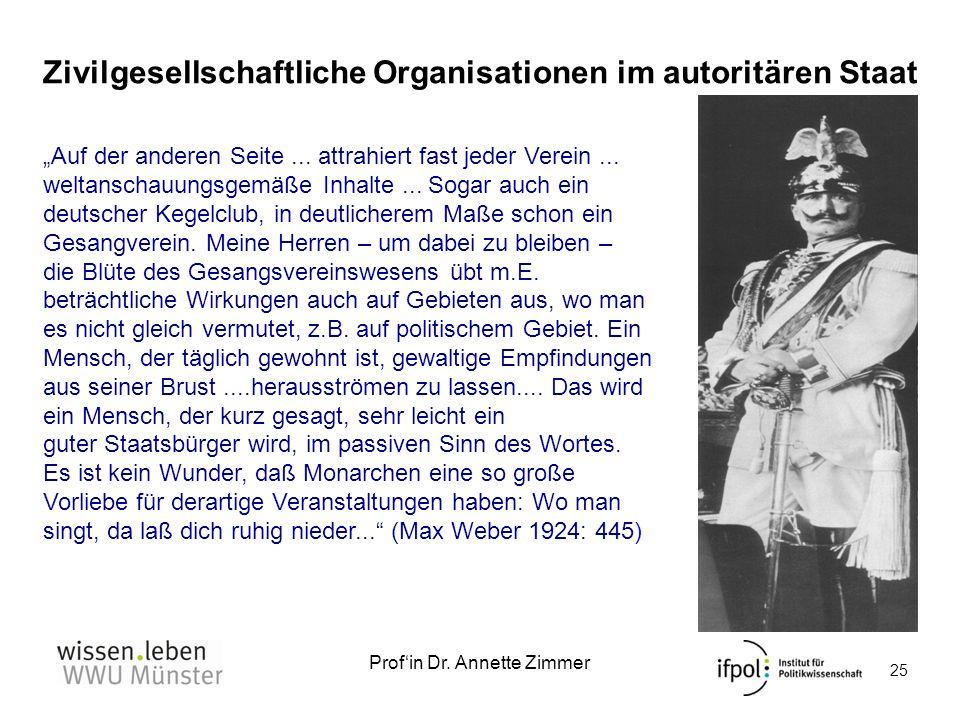 Zivilgesellschaftliche Organisationen im autoritären Staat