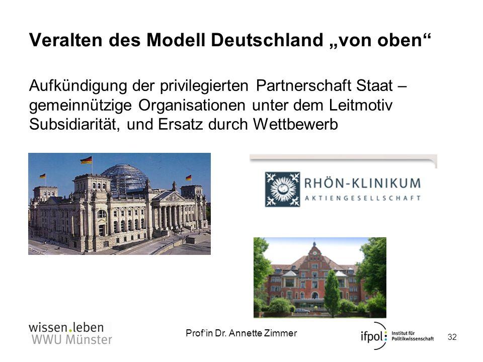 """Veralten des Modell Deutschland """"von oben"""