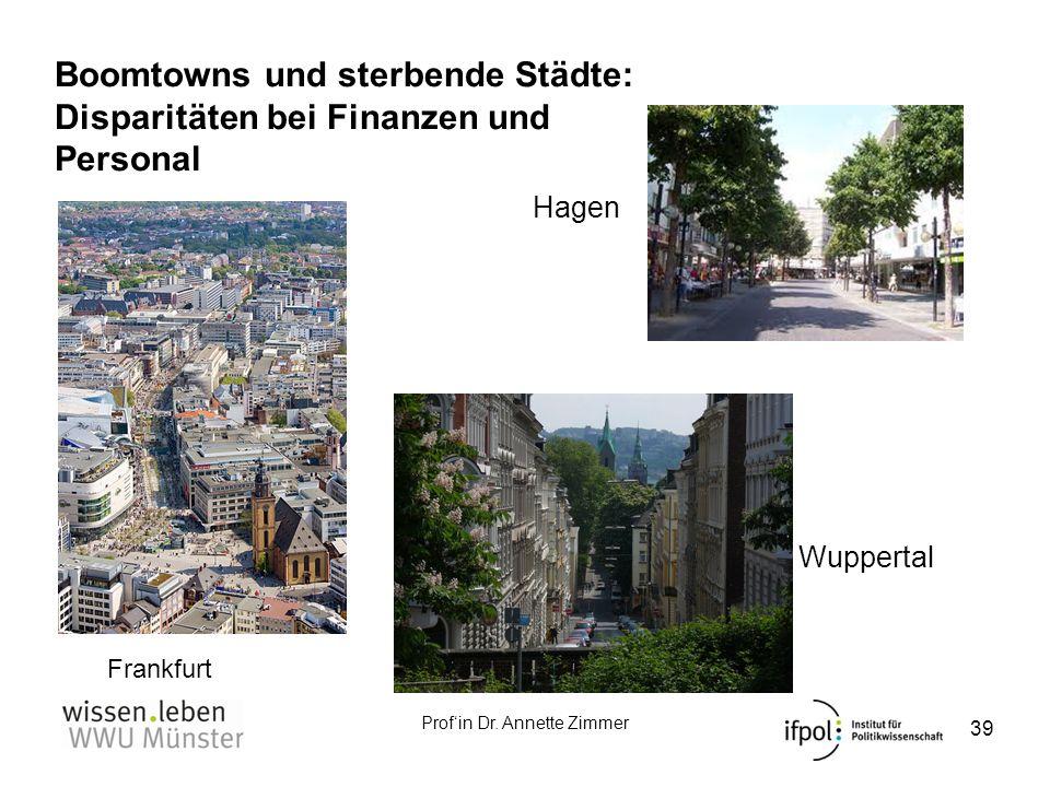 Boomtowns und sterbende Städte: Disparitäten bei Finanzen und Personal