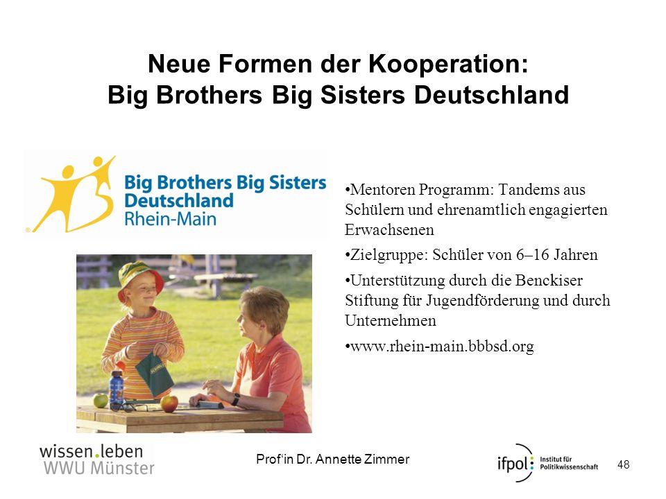 Neue Formen der Kooperation: Big Brothers Big Sisters Deutschland