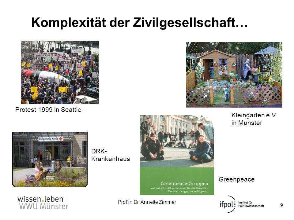 Komplexität der Zivilgesellschaft…