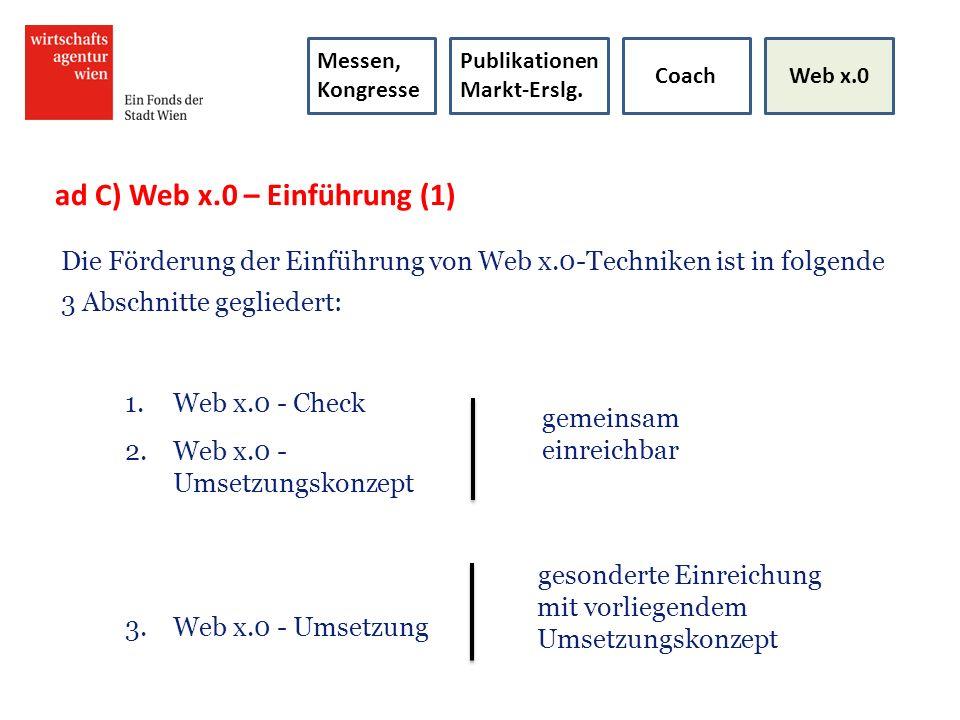ad C) Web x.0 – Einführung (1)
