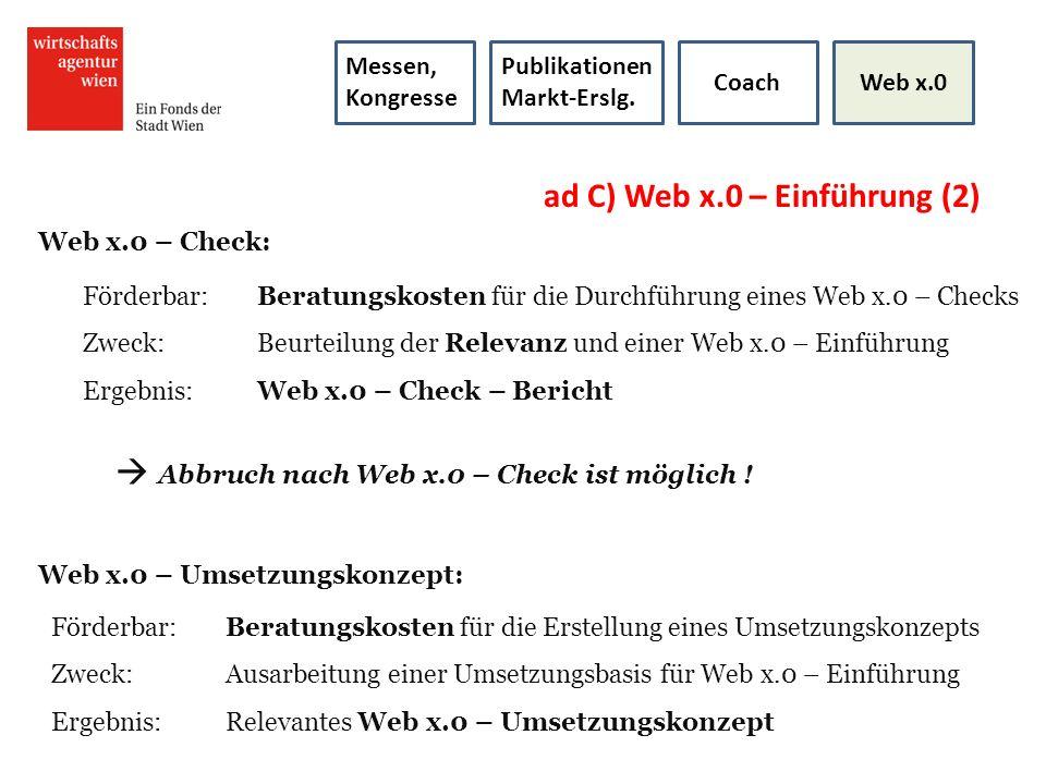 ad C) Web x.0 – Einführung (2)