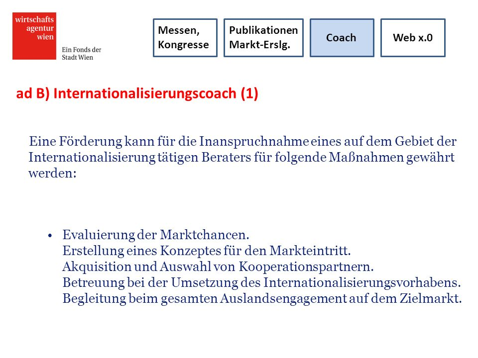 ad B) Internationalisierungscoach (1)