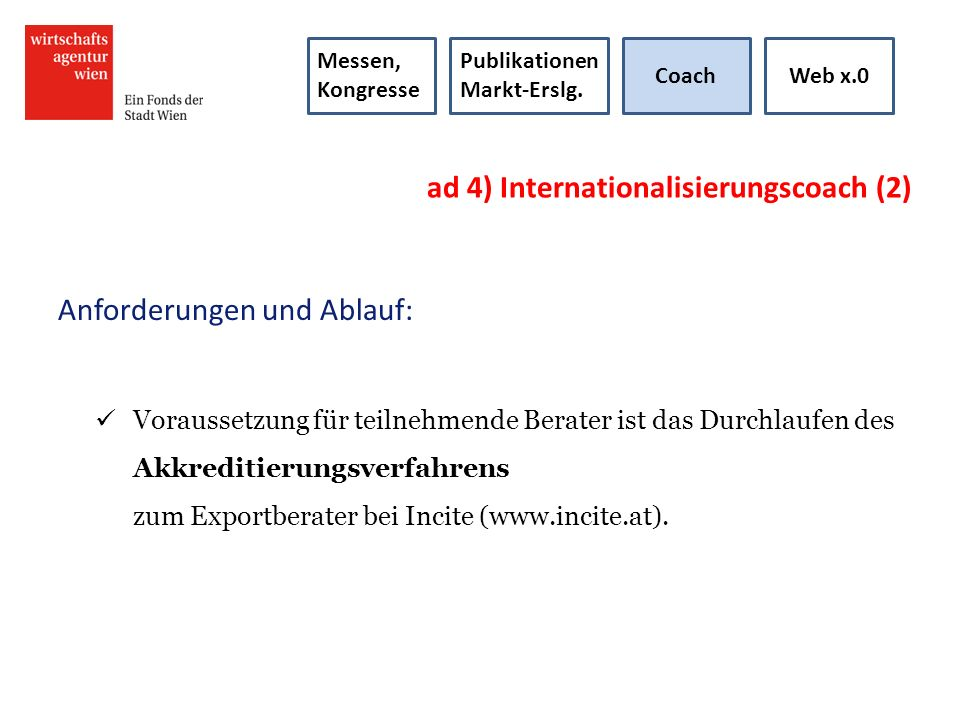 ad 4) Internationalisierungscoach (2)
