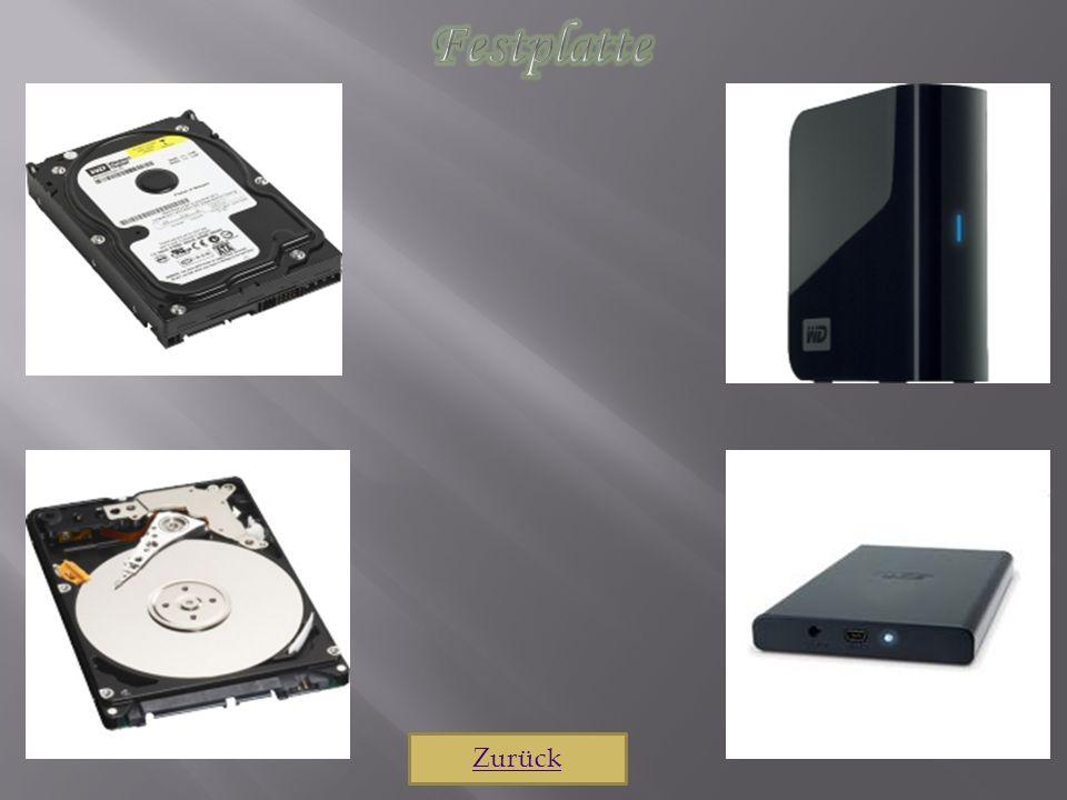 Festplatte Zurück