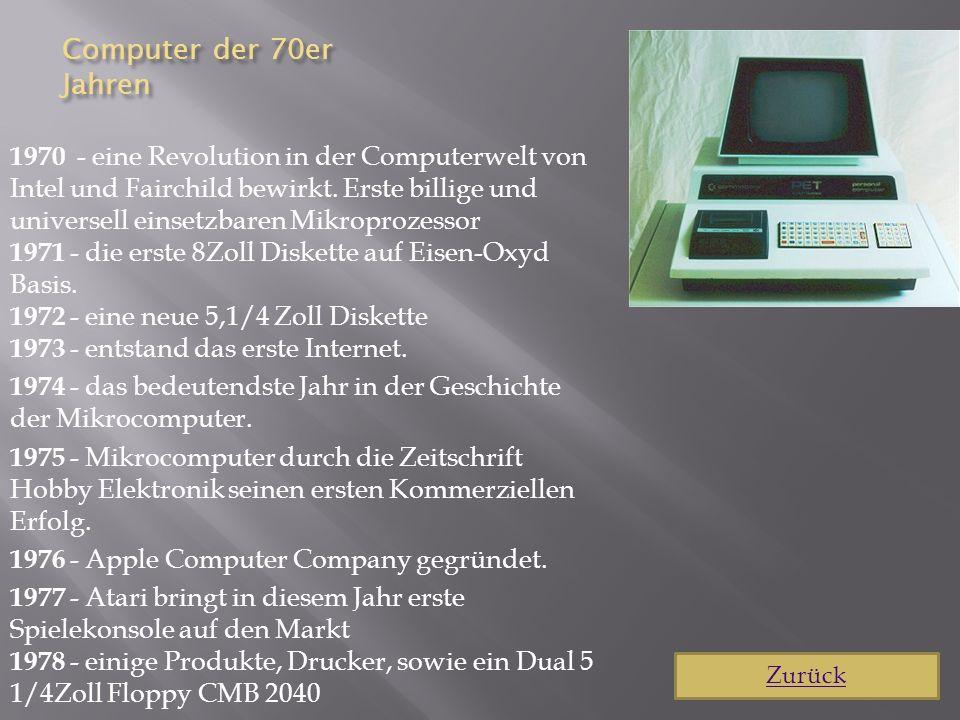 Computer der 70er Jahren
