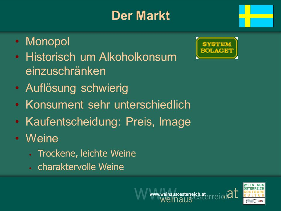 Der Markt Monopol Historisch um Alkoholkonsum einzuschränken
